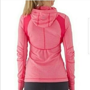 Lululemon Run Resolution 1/4 Zip Coral Pink Jacket